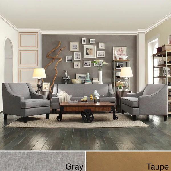 INSPIRE Q Winslow Concave Arm Modern 3piece Living Room
