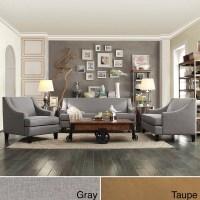 INSPIRE Q Winslow Concave Arm Modern 3-piece Living Room ...