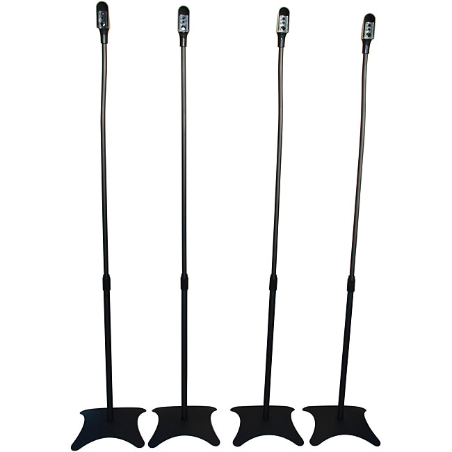 Mount-It! Home Theater Satellite Speaker Stands (Pack of 4
