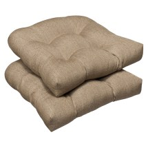 Pillow Perfect Outdoor Tan Textured Wicker Seat