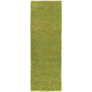Hand-woven Pavia Colorful Plush Shag New Zealand Felted Wool Area Rug (2'6 x 8') - 3' x 6'/3' x 9'/2'6 x 8'