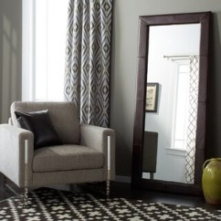 Large Decorative Mirrors For Living Room Furniture Rental Buy Leather Online At Overstock Com Our Best Abbyson Delano Dark Brown Floor Mirror