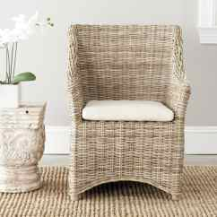 Wicker Dining Room Chairs Indoor Walmart Bungee Chair Safavieh St Thomas Washed Out Brown Wing