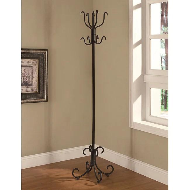 Black Coat Hat Rack Tree Stand Hanger Metal Hall Holder