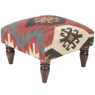 baby bath chair india diy upholstery shop handmade herat oriental kilim footstool ottoman (india) - on sale free shipping today ...