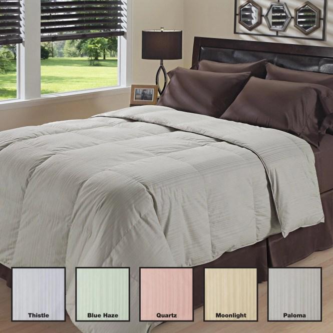 Oversized 350 Thread Count Waterbury Stripe Down Comforter