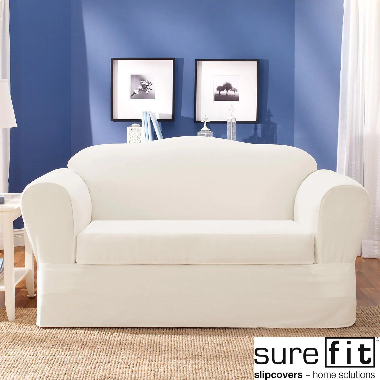 overstock sofa futura leather quality sure fit twill supreme 2 piece slipcover