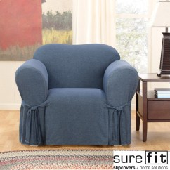 Chair Covers Overstock Holiday Decorative Sure Fit Denim Slipcover Shopping Big