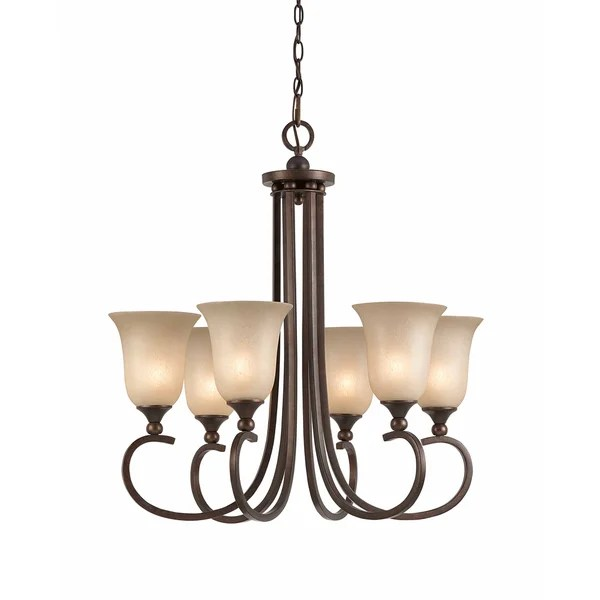 Triarch International 6 Light English Bronze Lacosta Pendant Chandelier