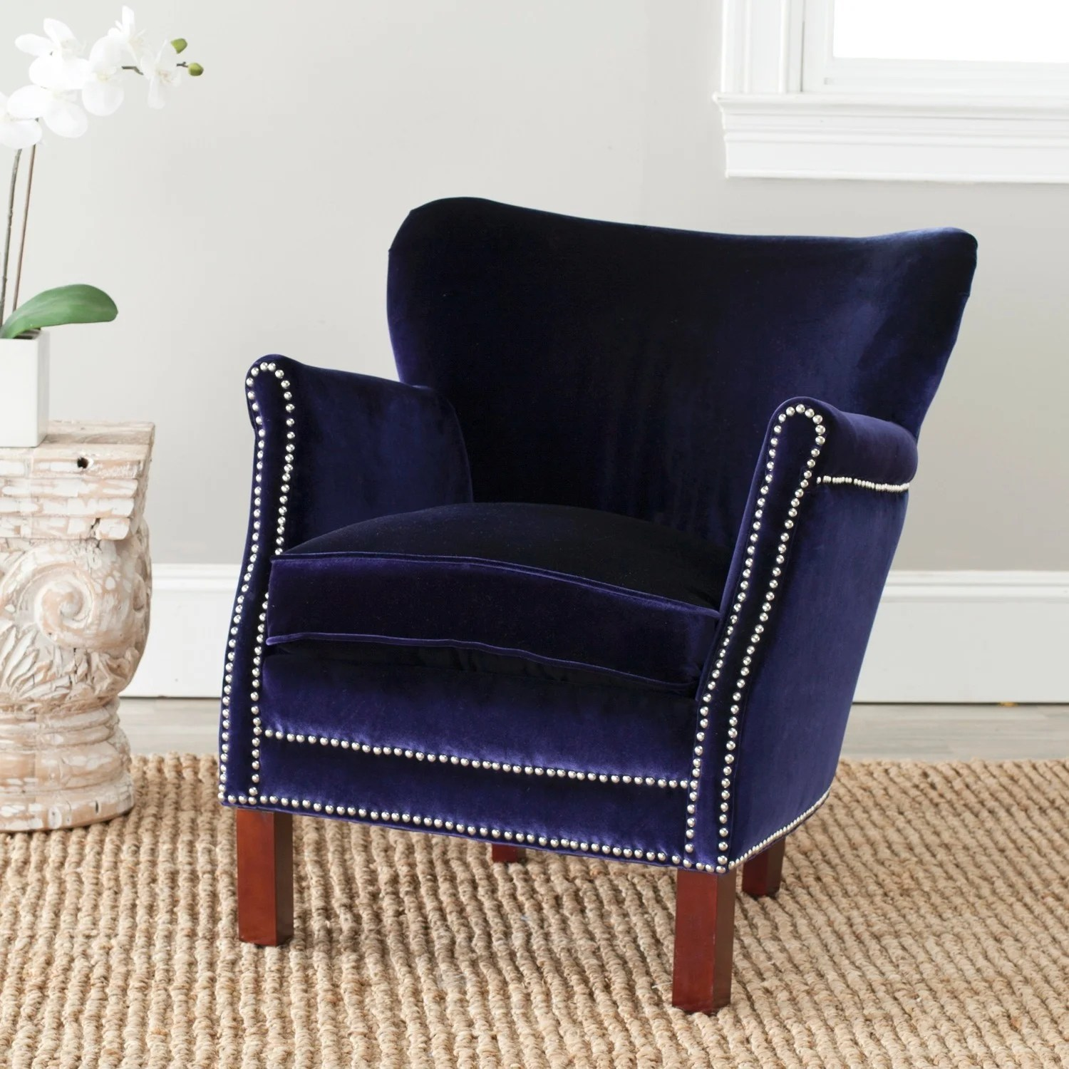 Royal Blue Chair Details About Safavieh Posh Royal Blue Arm Chair 26 6