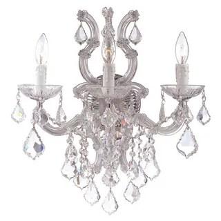 Shop Maria Theresa 3-light Gold/ Crystal Wall Sconce
