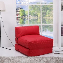 Bean Bag Chair Bed Steel Walmart Austin Red Overstock Shopping Big