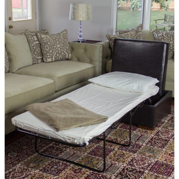 Convertible Ottoman Sleeper Bed Extra Hidden Hide Guest Urban Style Fold Out New | eBay