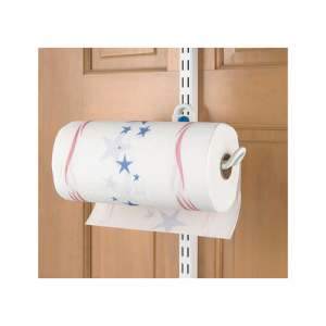 Organized Living freedomRail Over-the-Door White Paper Towel Holder