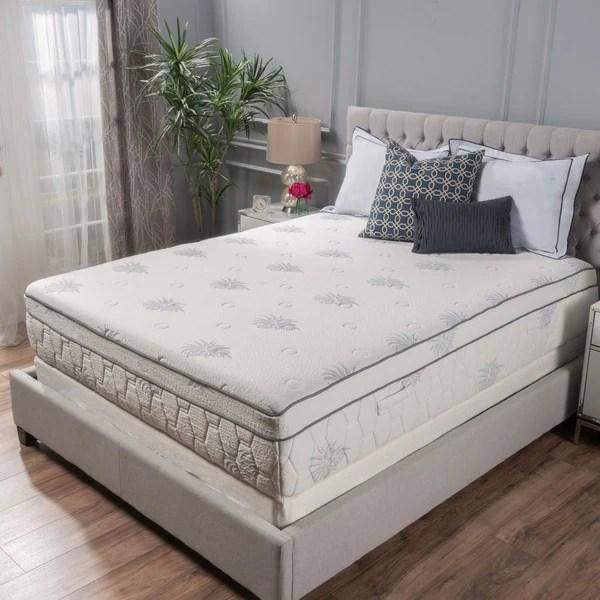 Aloe Gel Memory Foam 13 Inch King Size Pillow Top Mattress By Christopher Knight