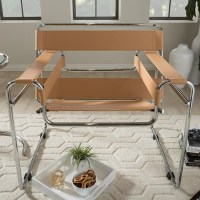 'Jericho' Tan Leather Mid-Century Accent Chair - Free ...