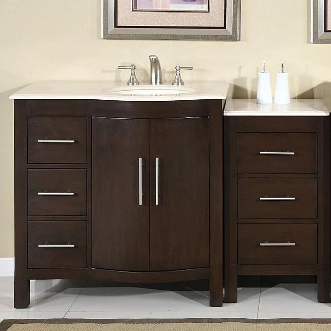 Silkroad Exclusive Stone Counter Top Bathroom Single Sink