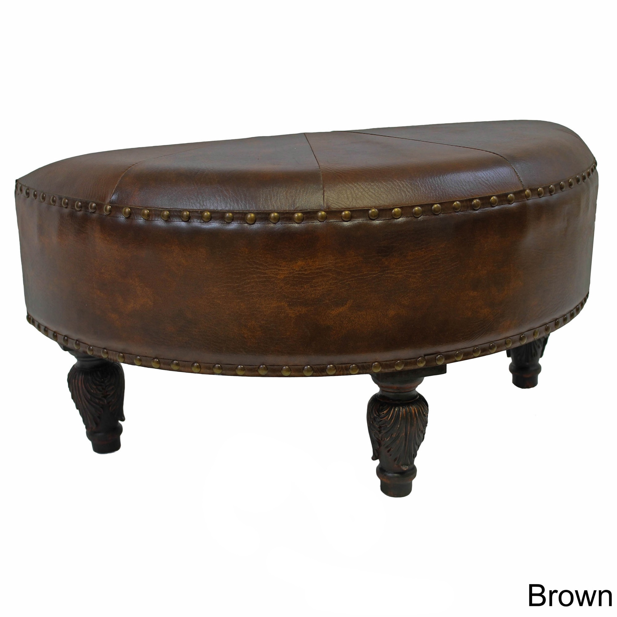 faux leather chair and a half gold sashes international caravan moon ottoman