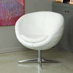 White Leather Swivel Desk Chair Inglesina High Tray Shop Christopher Knight Home Modern Bonded Roundback - Free Shipping Today ...