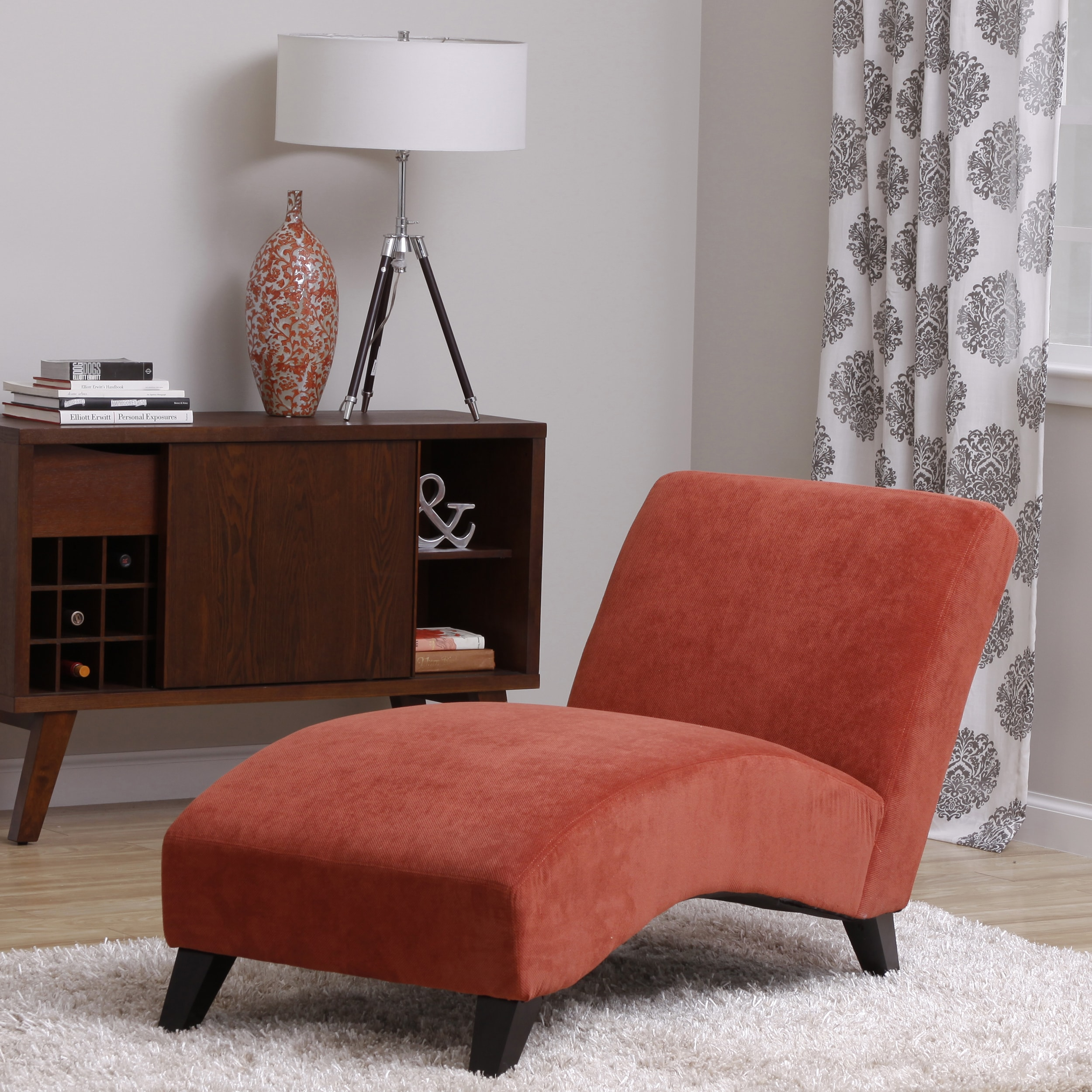 Orange Living Room Chair Bella Orange Paprika Chaise Overstock Shopping Great