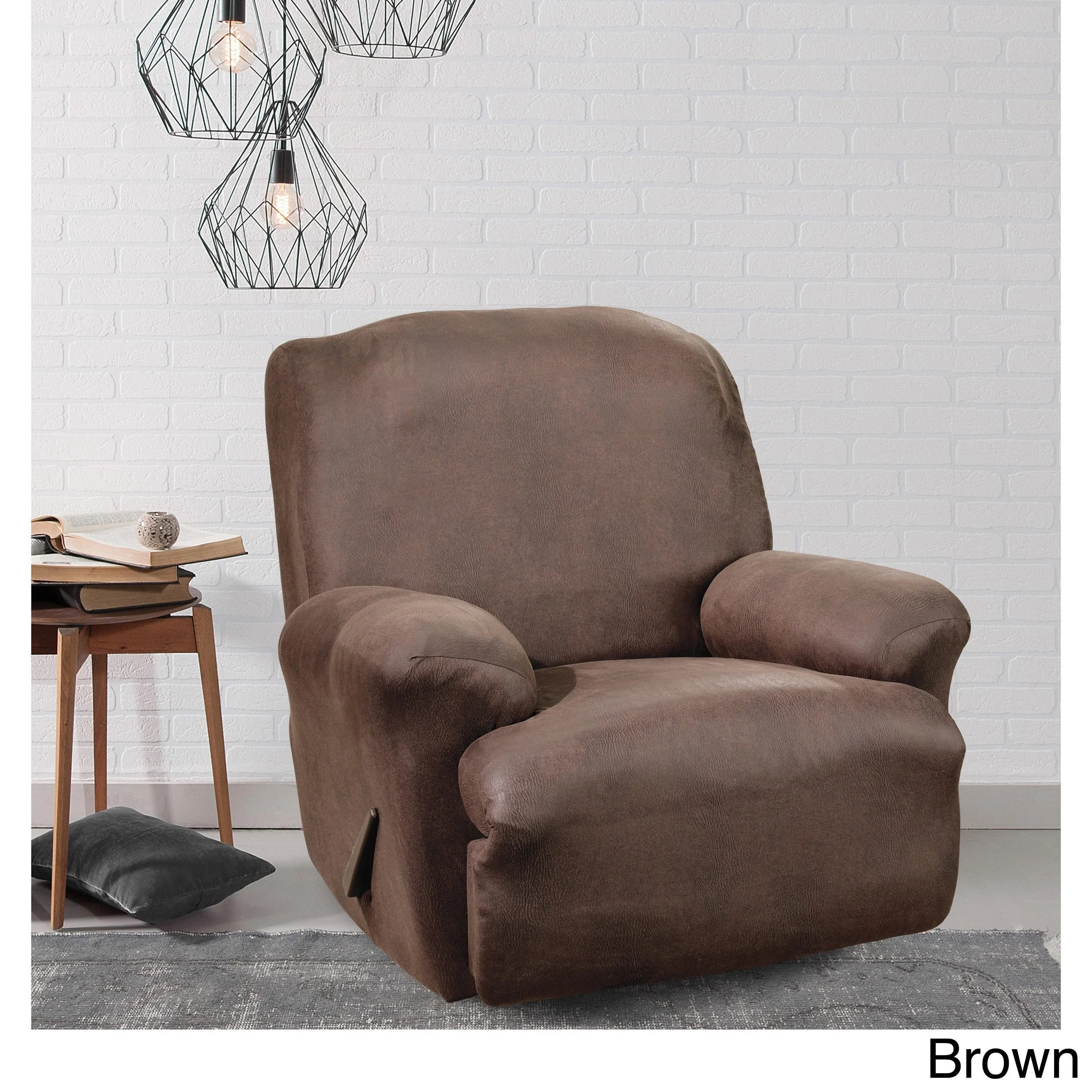 faux leather recliner chair covers beach canopy buy and wing slipcovers online at