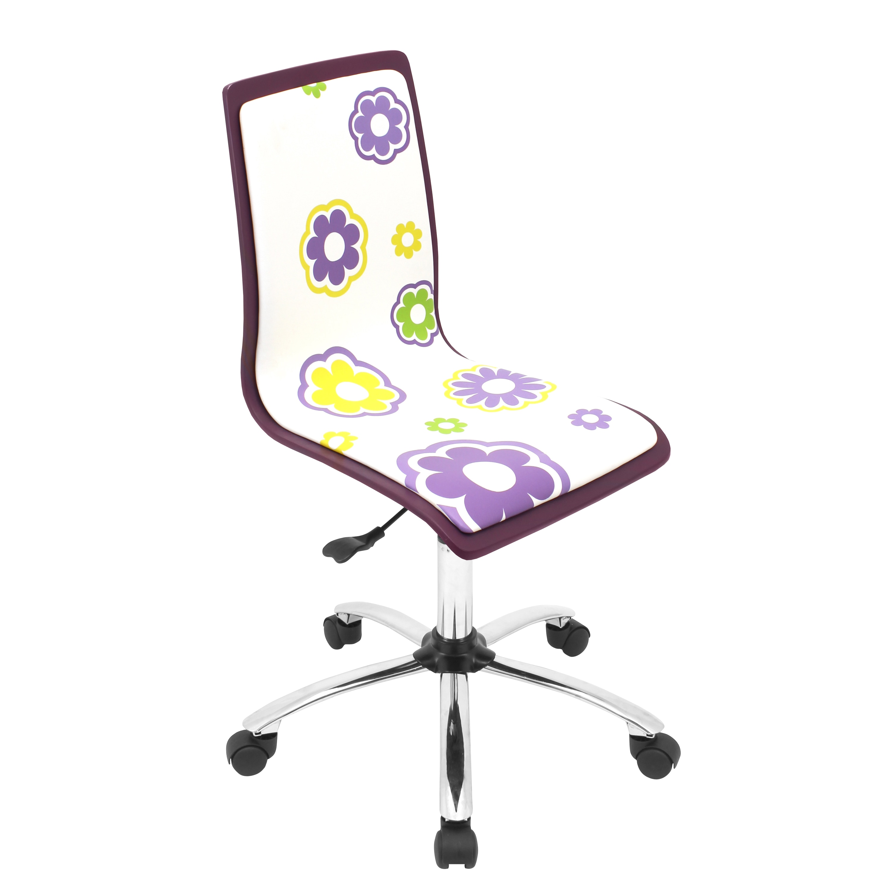 Printed Chair Printed Daisy Purple Computer Chair Free Shipping Today