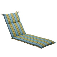 Blue Lounge Chair Cushions Theater Cup Holder Replacement Pillow Perfect Green Striped Outdoor Chaise