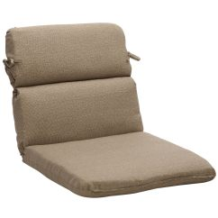 Patio Chair Pads Yoga For The Elderly Rounded Solid Taupe Textured Outdoor Cushion