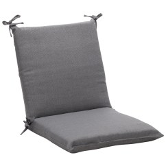 Grey Chair Cushions Pillows For Bed Shop Squared Solid Gray Textured Outdoor Cushion
