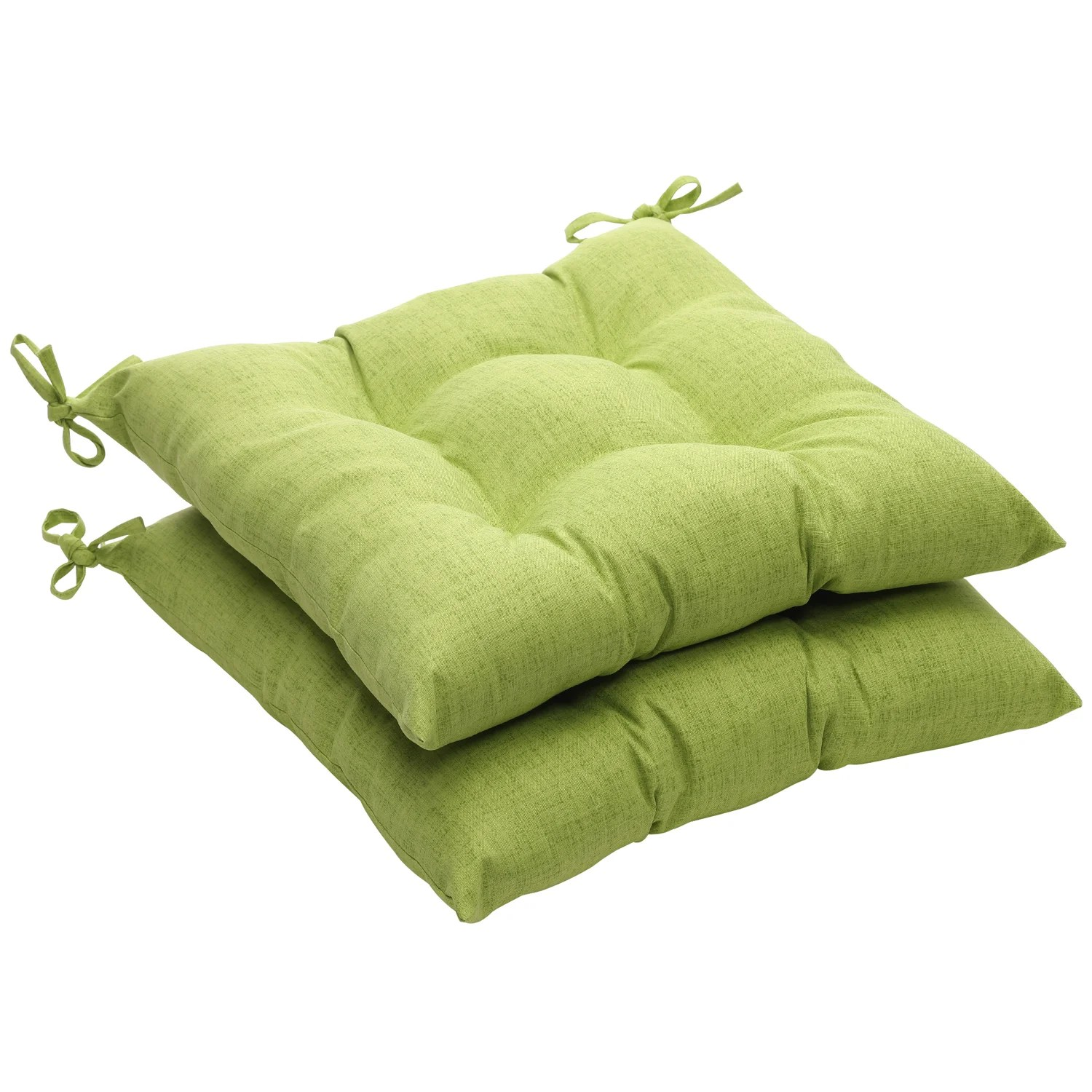green chair cushions dining covers cape town solid textured outdoor tufted seat set of