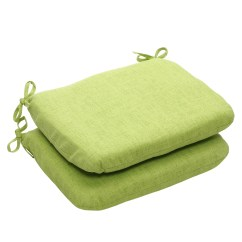 Lime Green Chair Pads Wholesale Party Tables And Chairs Shop Outdoor Textured Solid Rounded Seat Cushion