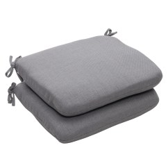 Grey Chair Cushions College Dorm Chairs Outdoor Gray Textured Solid Rounded Seat Set Of