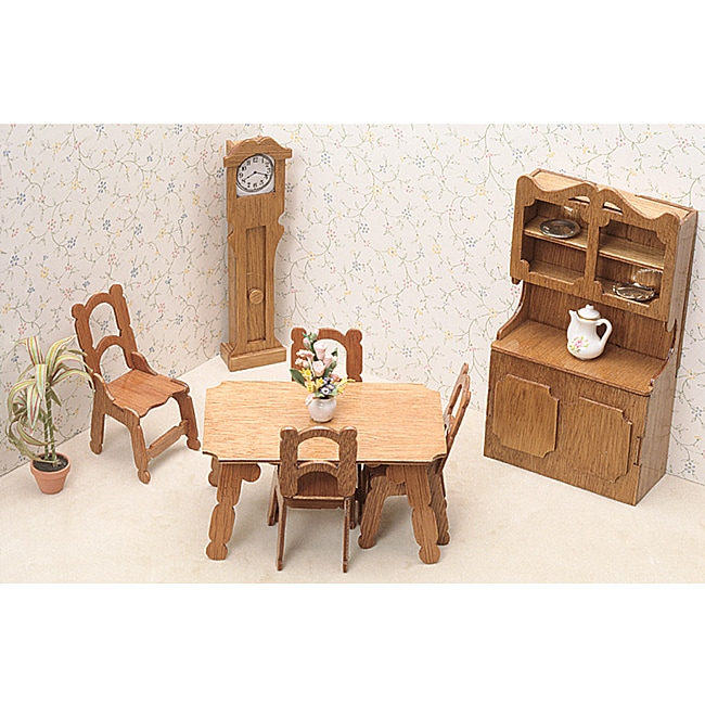 kidkraft doll high chair wedding cover hire northumberland shop unfinished wood dining room dollhouse furniture kit - free shipping on orders over $45 ...