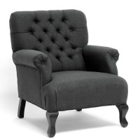 Joussard Grey Linen Club Chairs (Set of 2) - 14114631 ...