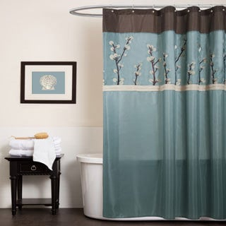 Brown Shower Curtains Overstock Com Vibrant Fabric Bath Curtains
