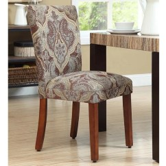 Parson Chairs Cheap Hang Upside Down Chair Shop Homepop Blue And Brown Paisley Set Of 2 On