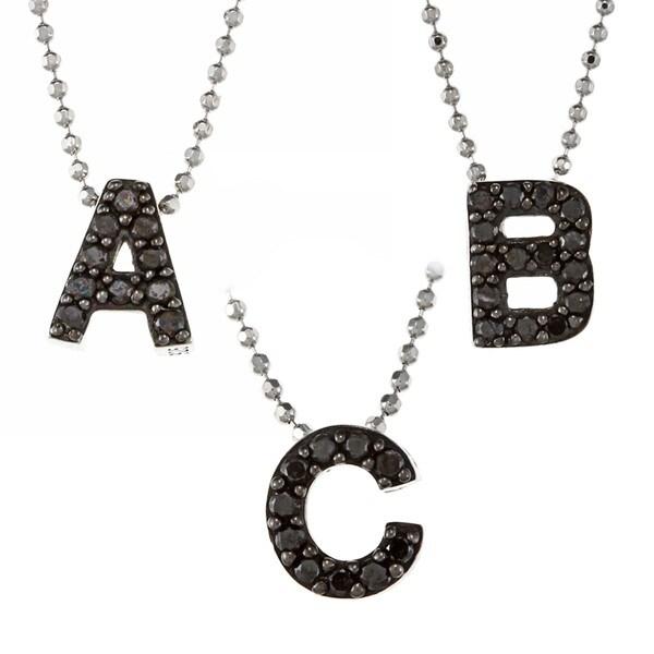 Victoria Kay Sterling Silver 1/10ct TDW Black Diamond