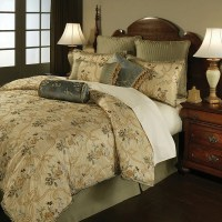 French Brocade Floral 4-piece Comforter Set - Free ...