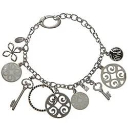 Shop Fossil Jewelry Women's Stainless Steel Charm Bracelet