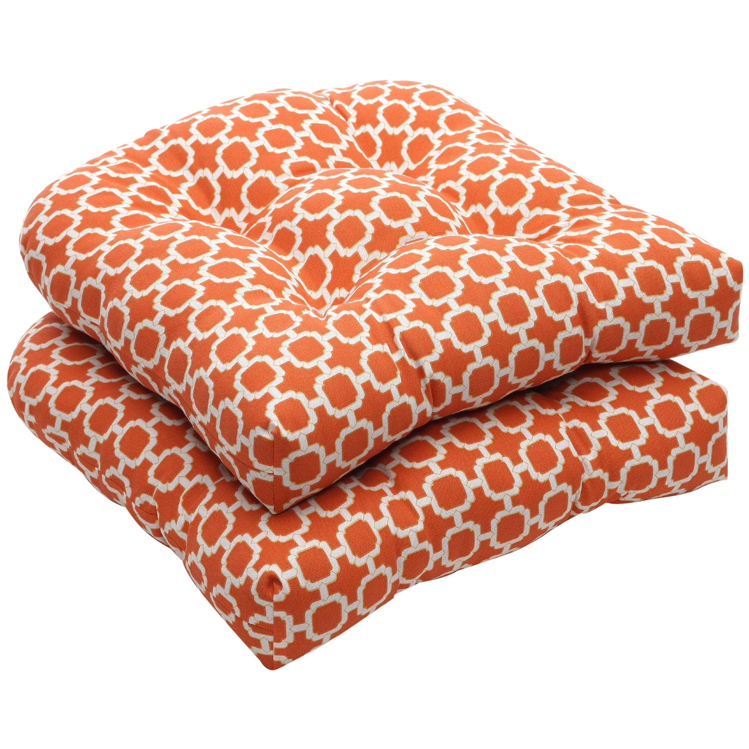 orange wicker chair cushions anti gravity table pillow perfect outdoor geometric white seat