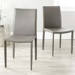 Leather Dining Chairs Computer Chair Office Max Buy Kitchen Room Online At Overstock Com Safavieh Mid Century Jazzy Bonded Grey Set Of 2
