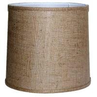 Medium-Brown Burlap-Drum Indoor Lamp Shade - 14163799 ...