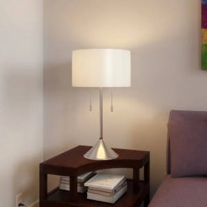 Porch & Den Trentino 30-inch Brushed Steel Table Lamp