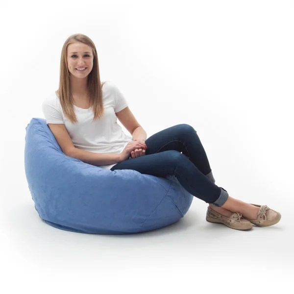 memory foam bean bag chair reviews nash fishing spares shop beansack ultra sky blue microfiber suede - free shipping today overstock ...