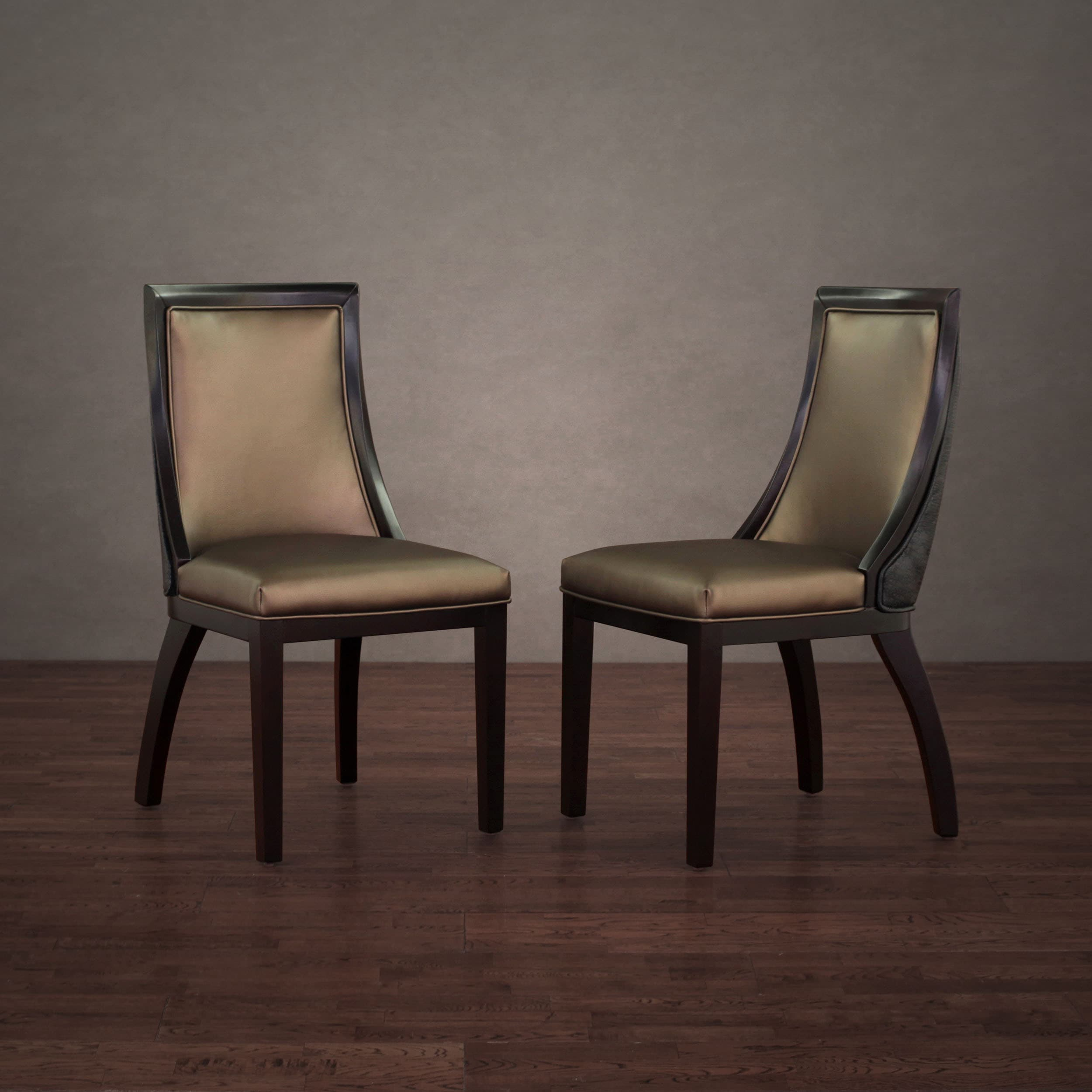 overstock com dining room chairs chair back support posture park avenue black croco bronze leather set