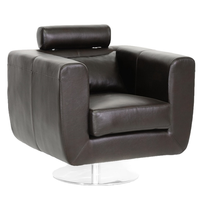 brown leather slipper chair kmart bean bag review swivel with adjustable headrest - free shipping today overstock.com 14213572