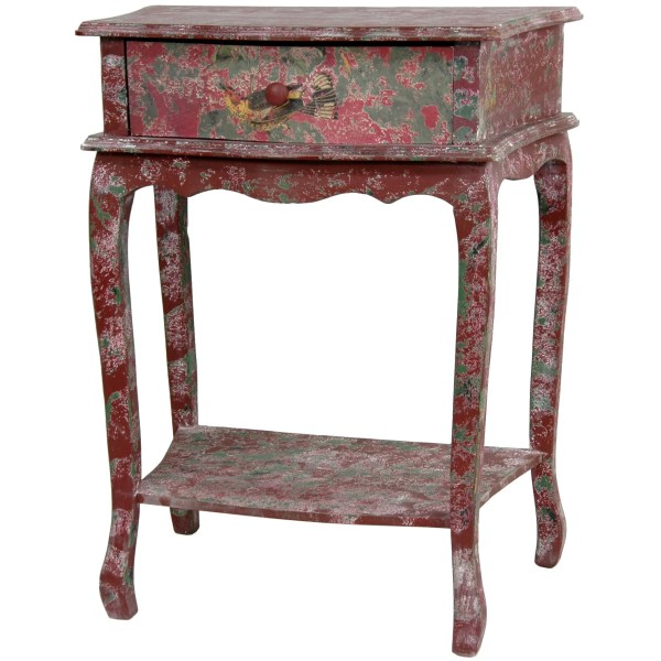 Handmade Rustic Red End Table China - Free Shipping