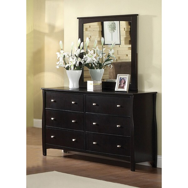 Shop Furniture of America Espresso Wood Dresser with Mirror  Free Shipping Today  Overstock