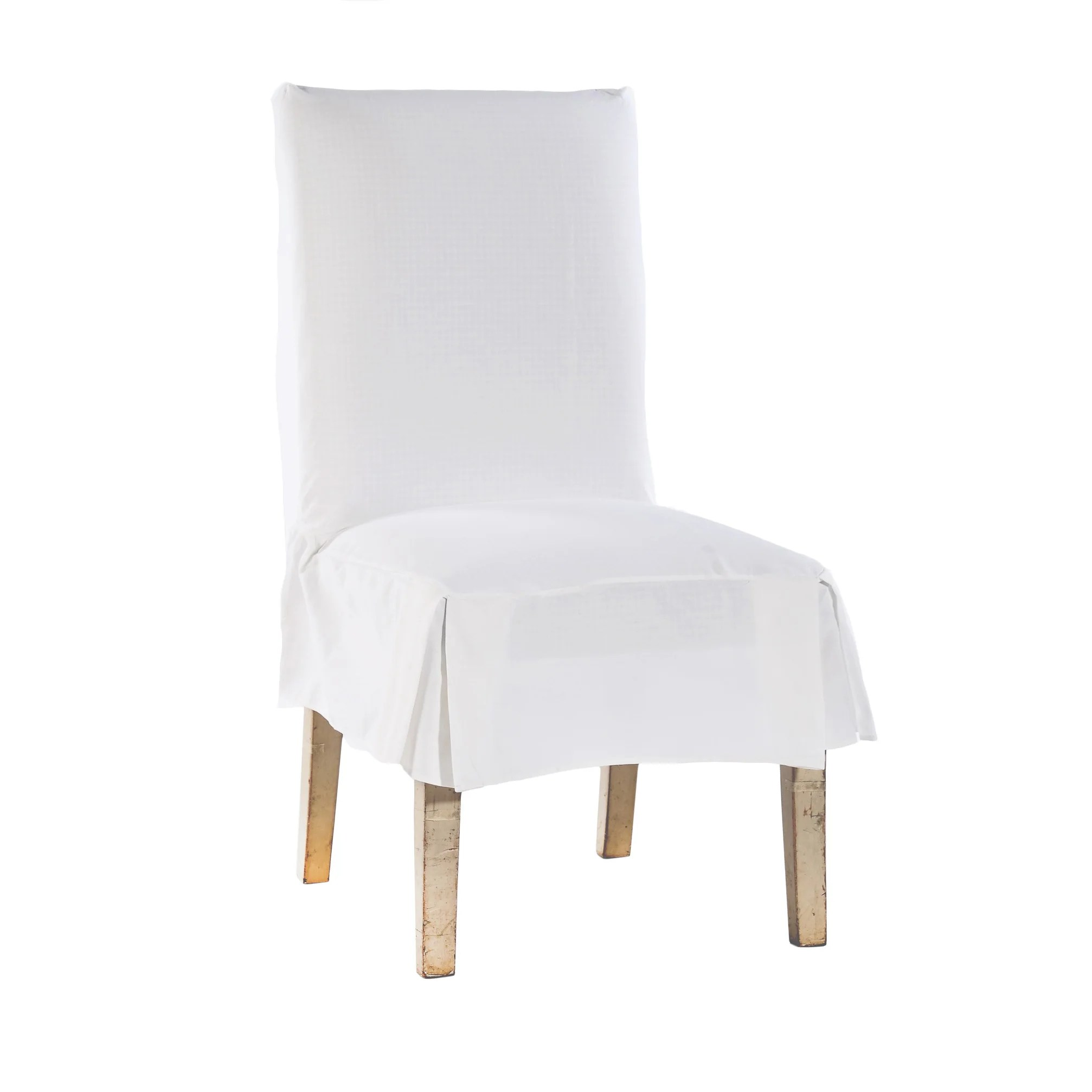 chair covers cotton black leather dining room chairs buy white slipcovers online at overstock com classic duck set of 2
