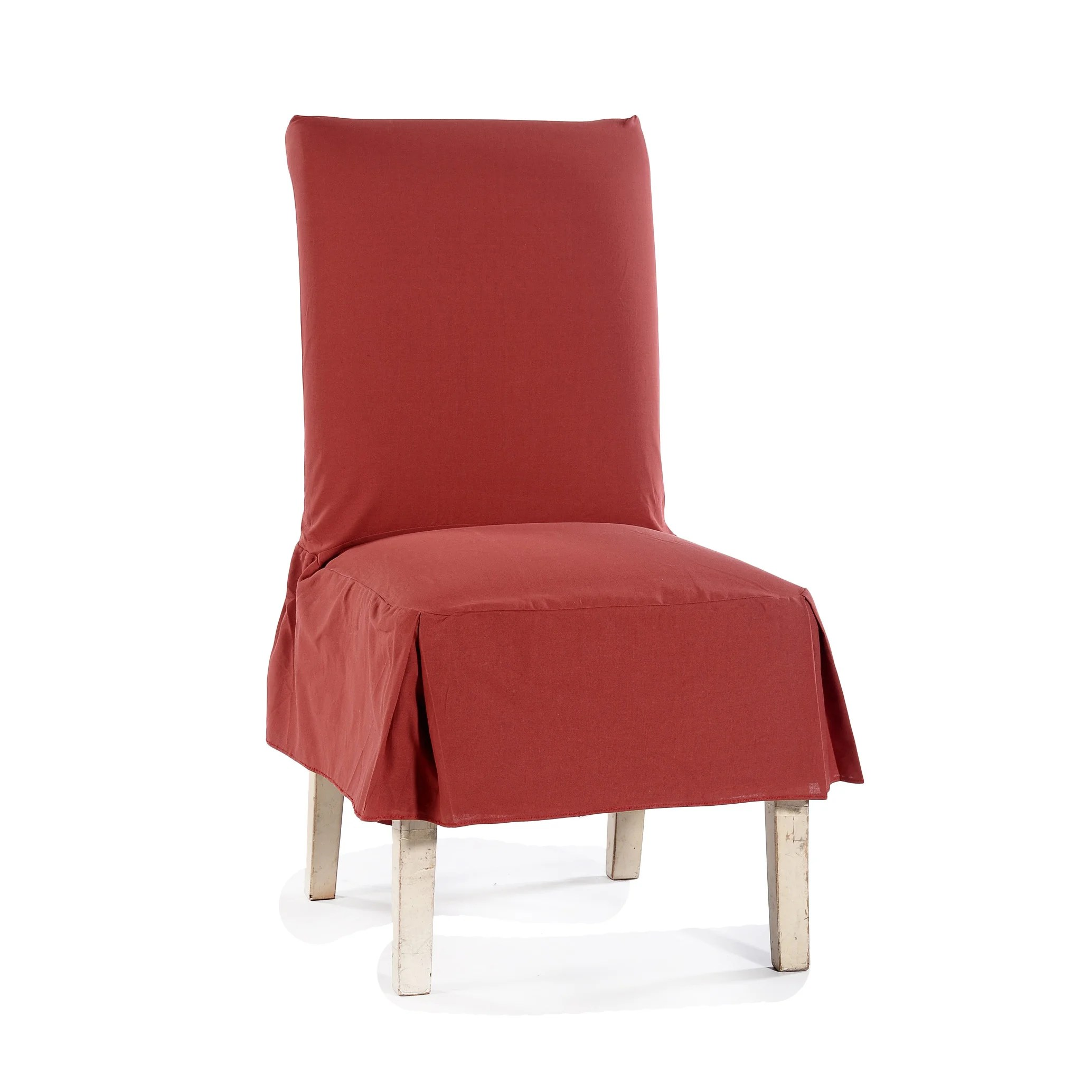 off white dining chair covers folding lounge canada classic cotton duck slipcovers set of 2 ebay